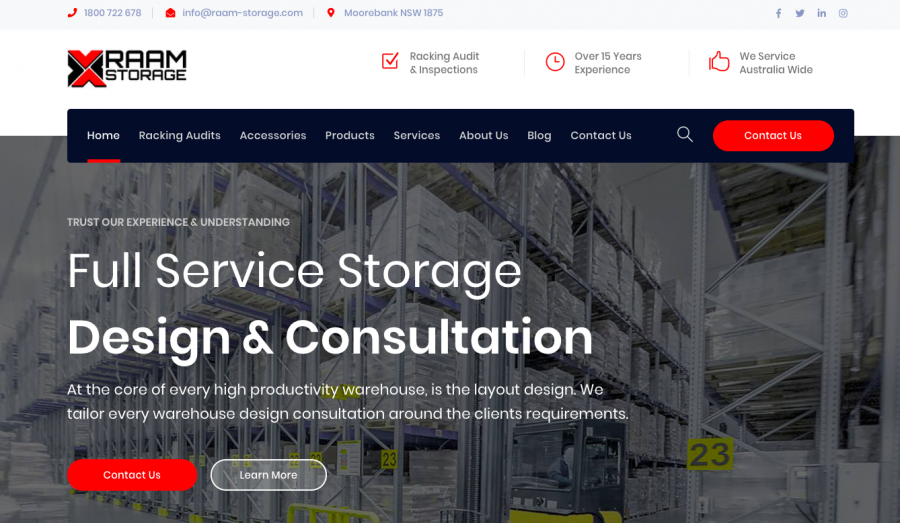 RAAM Storage Sydney
